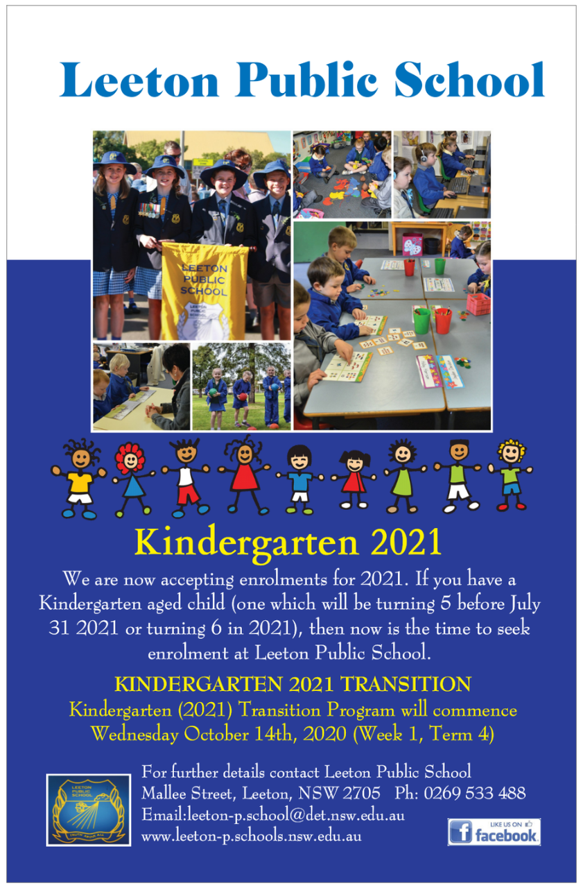 Kindergarten Transition 2021 Poster